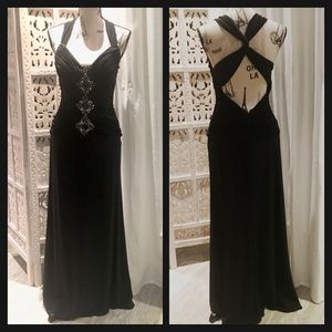 Gorgeous Black Halter Couture Evening Gown