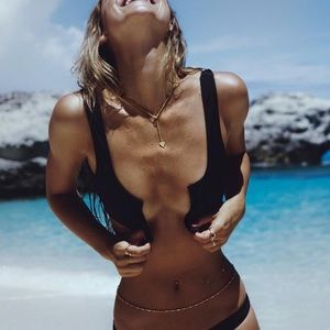 COULBOURNE BLACK BIKINI TOP