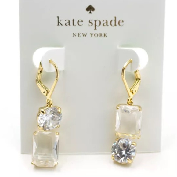 b6602ed3ec8ed ON TREND! Kate Spade mismatched earrings - crystal Boutique