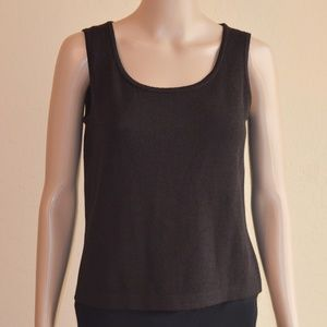 St. John Collection Santana Brown Scoop Neck Tank