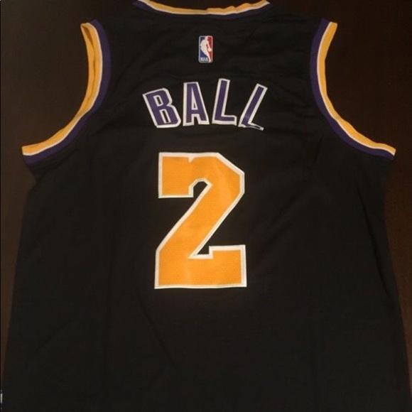 premium selection 0a709 9f7e8 New Lonzo Ball Black LA Lakers Jersey Mens Small