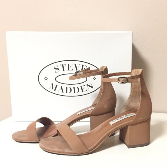79c964fbe34 Steve Madden Irenee Ankle Strap Sandal Tan Nubuck.  M 59d9d2c05a49d05de9086c52