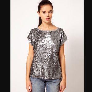 River Island Sequin T-shirt