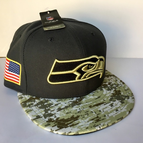 ece081c7 official store seattle seahawks salute to service hat a453f f5ce6