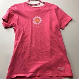 Life Is Good Pink/Orange Flower Tshirt