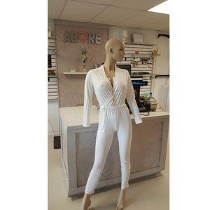 Pants - WHITE JUMPSUIT