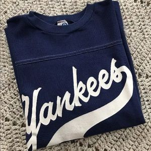 Vintage 70's New York Yankees T Shirt Retro Blue