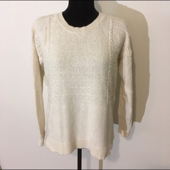 60% off Madewell Sweaters - Madewell off White cable knit sweater ...
