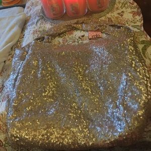 NWT MELIE BIANCO Gold Sequin Hobo
