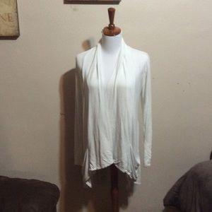Sweaters - White long sleeve cardigan