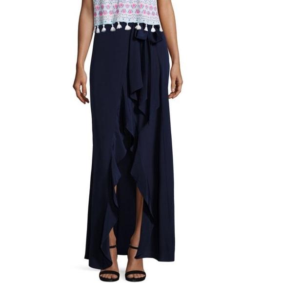 8139e237f Lilly Pulitzer Skirts | Lilly Berdine Silk Wrap Maxi Skirt | Poshmark