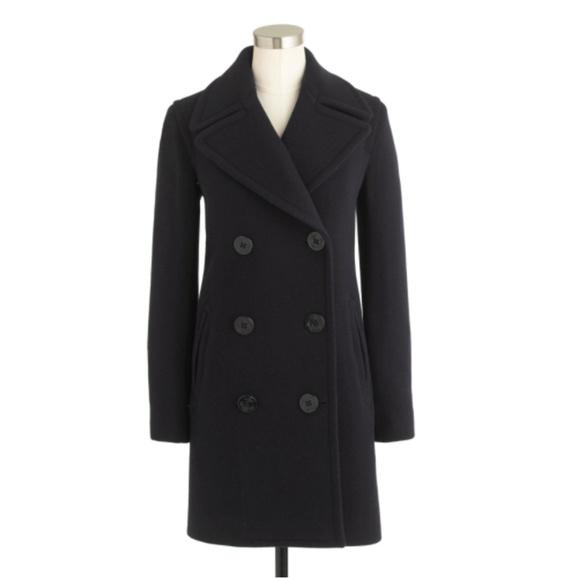 ed6b95949 J. Crew Stadium-cloth captain peacoat coat navy