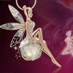 "Jewelry - Beautiful fairy and 22"" chain"