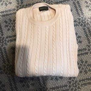 Other - Men's cotton cable sweater.