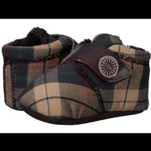 Ugg Australia Infant Brixbee Plaid Booties-sz 0/1
