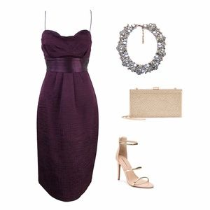 Elie Tahari Dresses - Elie Tahari Grape (Purple) Julianna Strappy Dress