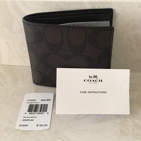 c32cb969bf9a9 Coach Men s Signature Wallet - F75083 Mahogany BR