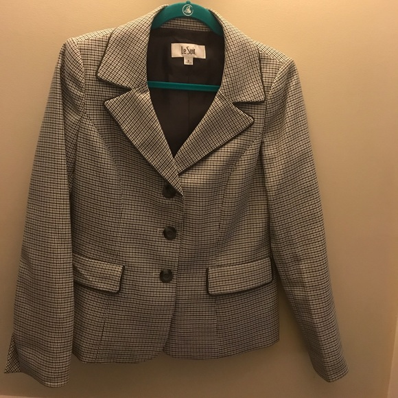 Le Suit Jackets Coats Bluegreywhite Patterned Suit Jacket Poshmark Beauteous Patterned Suit Jacket