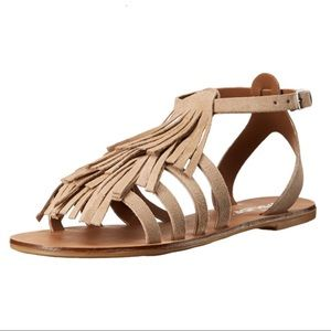 JSlides Women's Kai Flat Sandal Taupe 8