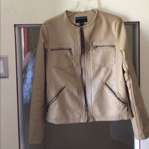 Leather-look Jacket/like new condition