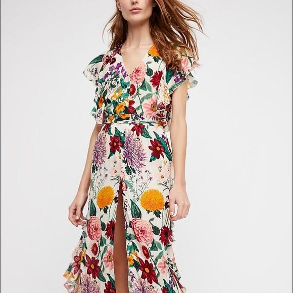 fab621fd1eba Free People Dresses   Skirts - Freepeople Dana Midi Dress