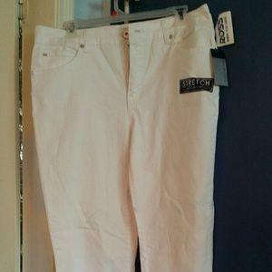 White Bandolina stretch jeans size 12