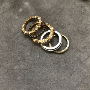 Jewelry - J. Crew factory stackable rings in size 6