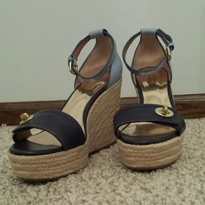 Coach Glinda Espadrille Wedge Ankle Strap Pump