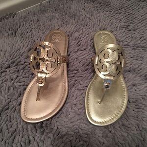 eb17299f0 Tory Burch Shoes - Tory Burch Rose Gold Metallic Glossy Snake Miller