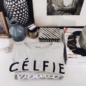 Gray + Black Célfie Tee