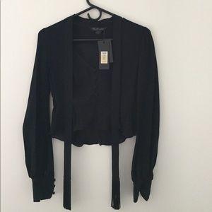 Rachel Zoe 100% silk crop blouse