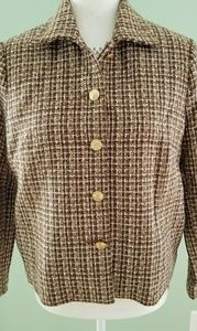 Brown with gold buttons blazer