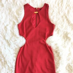 ASOS Cutout Party Dress - Red