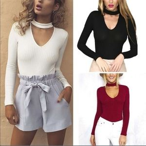 Tops - 50% OFF BUNDLES‼️HOST PICK🎉chocker/ribbed sweater