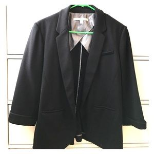 Black Lauren Conrad polyester blazer