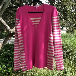 Lilly Pulitzer Adelaide striped v-neck Sweater