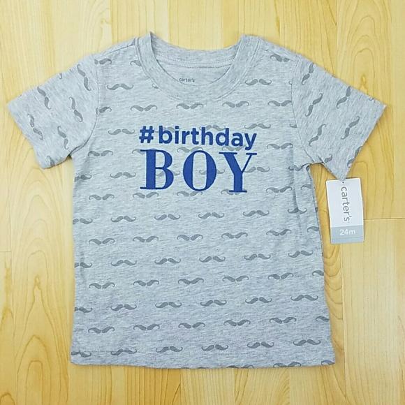 Birthday BOY Carters Shirt NWT