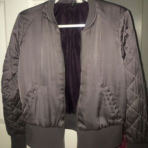Grey H&M Bomber Jacket