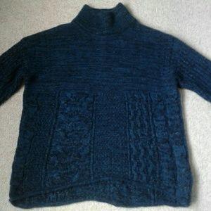 Simply Vera Metallic Mock Neck Sweater