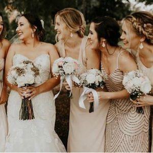 Papercrown Blush Bridesmaid Dress