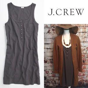 ••J. Crew•• Solid racerback tank dress