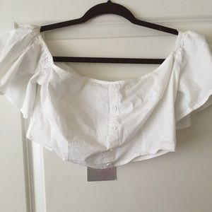 Tops - White Missguided crop top