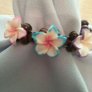 Jewelry - Hawaiian Flowered Bracelet or Hair Band