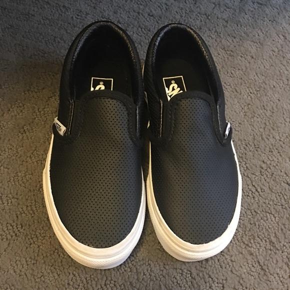 kids vans leather