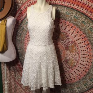 All Lace Fitted Waist Dress