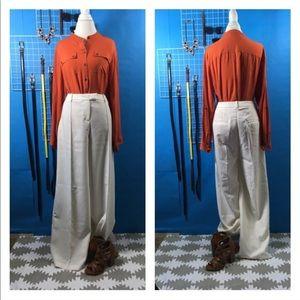 White palazzo trouser pants- sz 12
