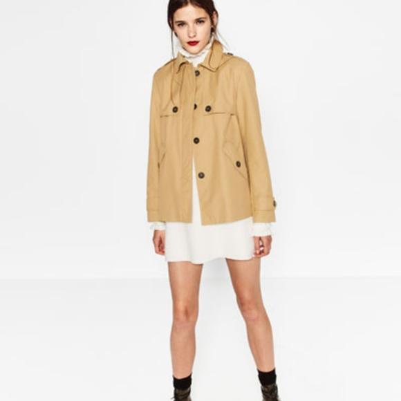d84f1f25 Zara Jackets & Coats   Nwt Water Proof Short Trench Coat   Poshmark
