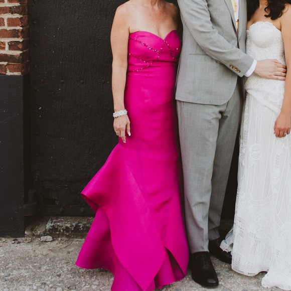 Fuoy/Chov Couture Dresses | Fuschia Evening Gown | Poshmark