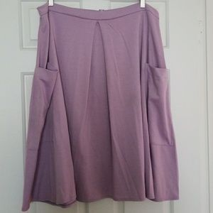 Asos Lavendar Ponte Knit Midi Skirt 14