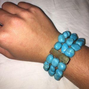 Turquoise Stone stretchy bracelet